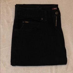 Lee® Relaxed-Fit Straight-Leg Jeans in Black